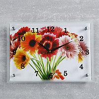 Часы настенные, серия Цветы, 'Цветы', 25х35 см микс