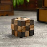 Головоломка из дерева 'Темный куб' 6,5х6,5х6,5 см