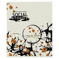 Тетрадь предметная 'Сияние', 40 листов в клетку 'Обществознание', обложка мелованный картон, выборочный лак с