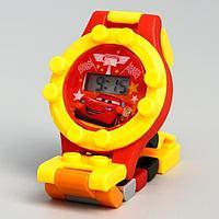 Часы наручные лего, Тачки, с ремешком-конструктором