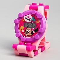 Часы наручные лего, Минни Маус, с ремешком-конструктором