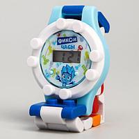 Часы наручные лего, ФИКСИКИ 'Нолик', с ремешком-конструктором