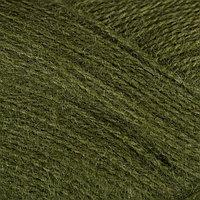 Пряжа 'Mohair delicate' 5 мохер,10шерсть,85 акрил 500м/100гр (6126 т. зелёный)