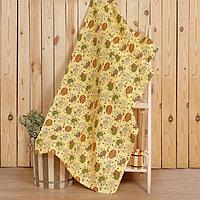 Полотенце для бани 'С легким паром' 80х 150 см, хлопок вафельное полотно