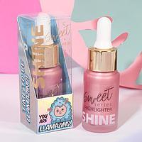 Жидкий хайлайтер для лица и тела Llamazing, оттенок 1, розовое настроение, 20 мл
