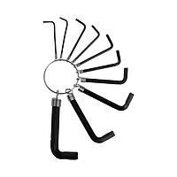 Набор ключей усиленных шестигранных на кольце TUNDRA, 1.5 - 10 мм, 10 шт.