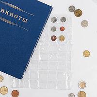 Лист для монет, Оптима. 200х250 мм, на 48 ячеек 28х28 мм (комплект из 10 шт.)