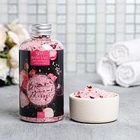 Расслабляющая соль для ванны 'Время думать о себе', с лепестками розы, 370 г
