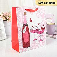 Пакет ламинированный 'Романтик', люкс, 26 х 12 х 32 см (комплект из 12 шт.)