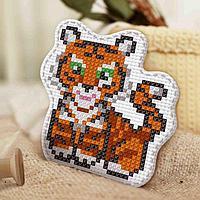 Вышивка крестиком, игрушка 'Весёлый тигрёнок'. Набор для творчества