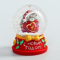 Снежный шар сувенир полистоун 'Медвежонок на шарике - С Новым годом!', 4,5 х 6 см, Me To You (комплект из 15