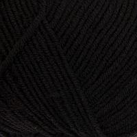 Пряжа 'Перспективная' 50 мериносовая шерсть, 50 акрил объёмный 270м/100гр (02-Черный)