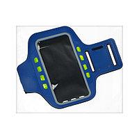 Светодиодный чехол для телефона на руку SY-AA14, до 5.5', 1 х CR2032, синий