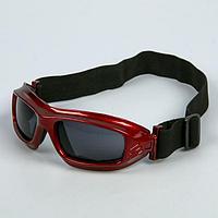Очки спортивные 'Koestler' KO-013, линзы чёрные, красная оправа