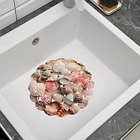 Решётка в раковину круглая Доляна 'Ракушки', 28x28 см