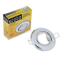 Светильник встраиваемый Ecola, DH03, MR16, GU5.3, выпуклый, поворотный, 25x88 мм, цвет хром