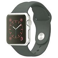 Ремешок Krutoff Silicone, для Apple Watch, 38/40 мм, темно-оливковый