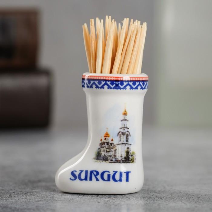 Сувенир для зубочисток в форме валенка 'Сургут' - фото 1