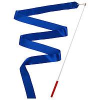 Лента гимнастическая с палочкой, 4 м, цвет синий