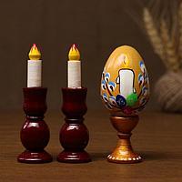 Набор пасхальный 'Яйцо и 2 свечи', ручная работа