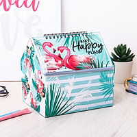 Шкатулка - планинг'Фламинго', 50 листов