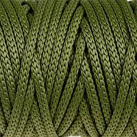 Шнур для рукоделия полиэфирный 4 мм, 50м/110гр (оливковый)