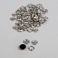 Кнопки рубашечные, закрытые, d 9,5 мм, 100 шт, цвет чёрный