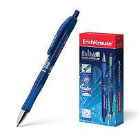 Ручка шариковая автоматическая Megapolis Concept, резиновый упор, узел 0.7 мм, чернила синие, длина линии