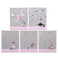 Тетрадь 48 листов в клетку 'Маленькая Принцесса', обложка мелованный картон, ламинация Soft Touch, фольга,