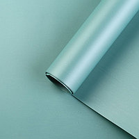 Пленка для цветов 'Перламутр', голубой, 58 см х 5 м