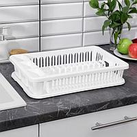 Сушилка для посуды, 42,5x27,5x9,5 см, цвет белый