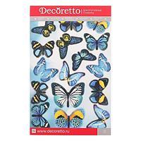 Наклейки Decoretto 'Бабочки 'Небесная лазурь' 25х35 см
