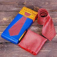 Подарочный набор галстук и платок 'Супергерою'