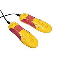 Сушилка для обуви Sakura SA-8156RY, 10 Вт, 65С, желто-красная