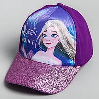 Кепка детская 'Queen of snow ice' Холодное сердце, р-р 52-56