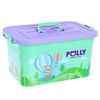 Контейнер для детской аптечки с вкладышем 6.5 л, Polly, МИКС