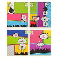 Тетрадь 48 листов в клетку 'Создай комикс!', обложка мелованный картон, матовая ламинация, блок офсет