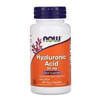 Гиалуроновая кислота, 50 мг, 60 растительных капсул от Now Foods