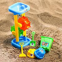 Набор для игры в песке ведро, мельница, совок, грабли, 2 формочки, цвет МИКС, 530 мл
