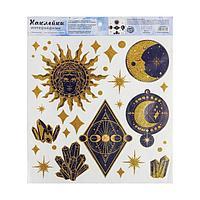 Наклейка виниловая 'Тайные знаки', с блестками, 30 х 35 см