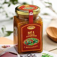 Мёд алтайский с экстрактом корня женьшеня, 330 г