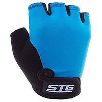 Перчатки велосипедные детские STG, размер Л, цвет синий