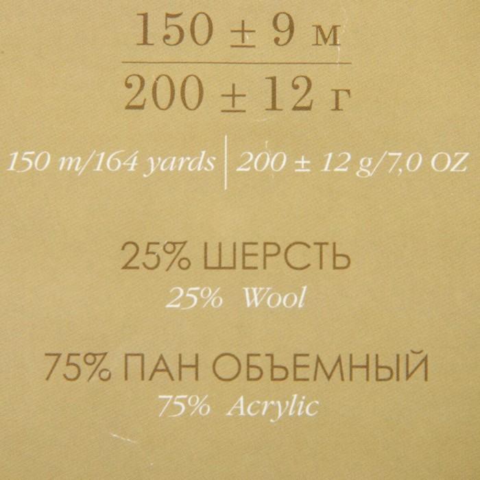 Пряжа 'Осенняя' 25 шерсть, 75 ПАН 150м/200гр (119-Горох) - фото 3