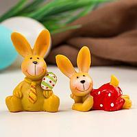 Сувенир полистоун 'Пасхальный кролик' МИКС 5,5х3,8х3 см