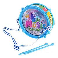 Игрушечный барабан Music drum, световые эффекты, детский, МИКС
