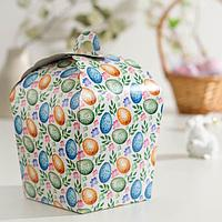 Пасхальная коробочка 'Пасхальные яйца и цветы', 17 х 17 х 26 см (комплект из 5 шт.)