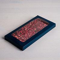 Коробка для шоколада 'Дамаск', с окном, 17,3 x 8,8 x 1,5 см (комплект из 5 шт.)