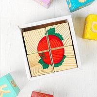 Деревянные кубики 'Овощи' 4 элемента, Томик