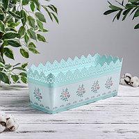 Ящик балконный для цветов с дизайном 6 л, цвет МИКС