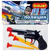 Полицейский пистолет со стрелами на присосках